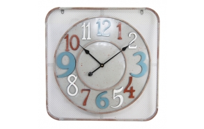 Iron wall clock Industrial numeral, 68x68x4cm