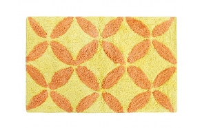 Bath mat Flower, yel/orang 50x80 cm
