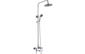 Rain shower set BONN with swivel spout
