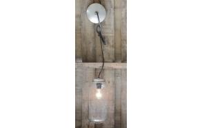 klaasist vintage purgikujuline laelamp, diam.14cm x 26.5cmH