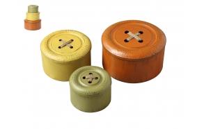 metallist nööbikujuline karp, 3 erinevat suurust, diam.28cm,23cm & 18.5cm