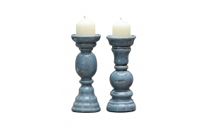 """12-3/8""""H Terra Cotta Candle Holder, 2 Styles"""