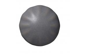 Drawer pull, ceramic, grey ø2,4cm