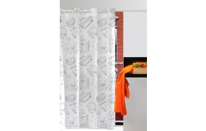 "textile shower curtain ""BATH"""