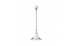 CEILING LAMP BELLA E27 26W CFL BLANCO, ALUMINIUM+GLASS