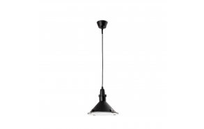 CEILING LAMP BELLA E27 26W CFL NEGRO, ALUMINIUM+GLASS