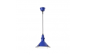 CEILING LAMP BELLA E27 26W CFL AZUL, ALUMINIUM+GLASS