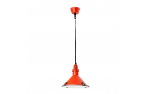 CEILING LAMP BELLA E27 26W CFL ROJO, ALUMINIUM+GLASS