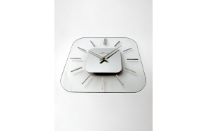 Wall clock Liberty alu., glass 35x35cm