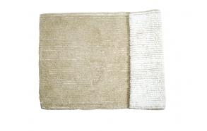Vannitoamatt Linia II valge/beež 50x80 cm
