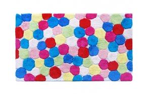Bathmat Pastel SE-044 60x100cm pink/blue/red