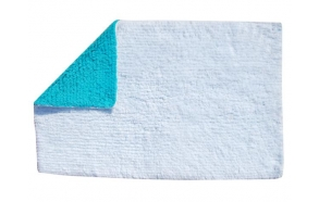 Bathmat Spark reversable, white/green, 50x80cm
