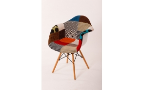 "chair Beata, ""patchwork"", beech feet"