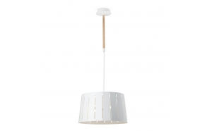 CEILING LAMP TRE, WHITE,2 x E27 60W,METAL AND WOOD