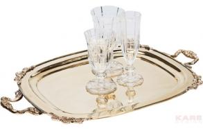 Tray Antico Brass