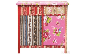 Dresser Patchwork 2Doors 2Drw Red
