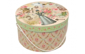 Paper box Manor lady, oval, size 3, 25x25x14cm