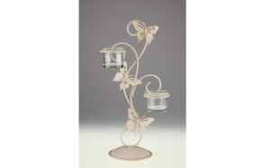 BUTTERFLY DOUBLE VOTIVE CANDLE HOLDER