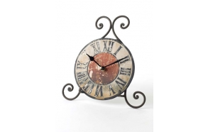 VINTAGE CLOCK WITH SWIRL STAND