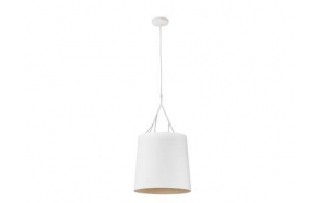 TREE White pendant lamp,Steel with a textile shade,1 x E27 100W