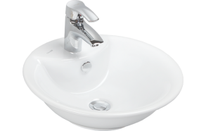 46 CM TOP COUNTER W.BASIN WHITE