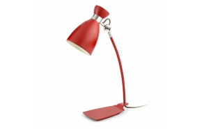 RETRO TABLE LAMP RED E14 MAX 20W, METAL