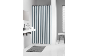 LINJE shower curtain textile, grey, 180x200cm