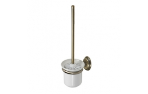 AMBER toilet brush set, ceramic bowl bronze