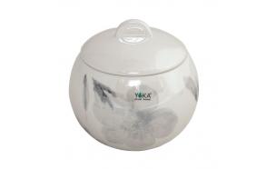 cotton jar w lid ISADORA