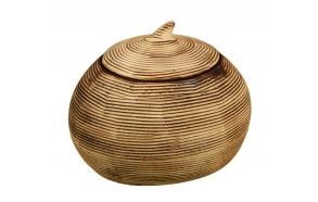 cotton jar w lid ZEBRA