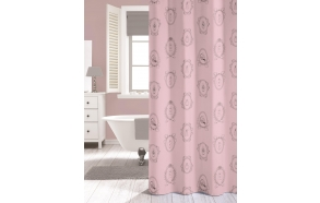 NEW ROMANCE shower curtain textile, pink, 180x200