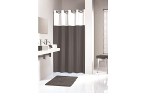 DOUBLE shower curtain textile,grey, 180x200