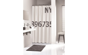 DIGITS shower curtain textile, white/grey, 180x200