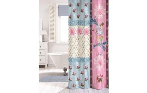 MILOU shower curtain textile,coloured,180x200cm