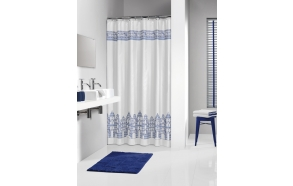 AMSTERDAM shower curtain textile 180x200,white