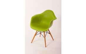 chair Beata, green, beech feet