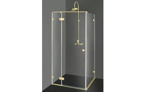 Shower enclosure VITA  PLUS with bronzed fittings , clear glass