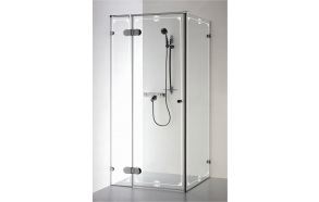 Shower enclosure NORA PLUS with pattern , clear glass