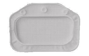 UNILUX headrest, grey, 32x22cm