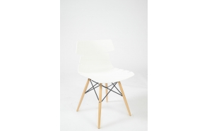 chair with wooden feet,white