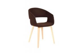 chair, fabric+wood,light brown