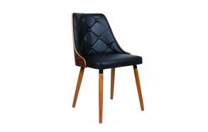 chair, fabric+wood,black