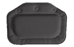 UNILUX headrest, antracit, 32x22 cm