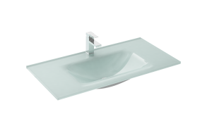 glass washbasin loka 80 white
