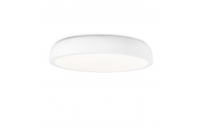 COCOTTE white ceiling lamp,1 x T5 40W,Metal and acrylic opal