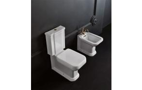 wc Waldorf, bronze flush button, universal trap