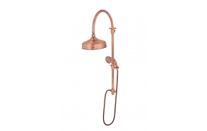 retro rain shower set ,copper, without mixer