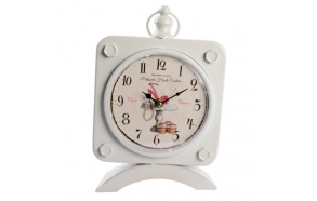 Table clock Effie, white, 19x31x7cm