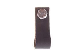 nahast sahtlinupp, 6 cm, tumepruun