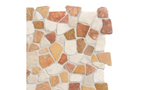 Mosaic marble Terra/White Interlock